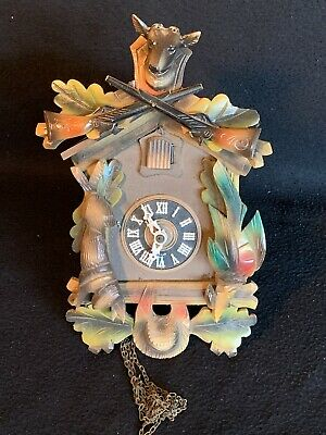 West German Cold War Carved Regula Cuckoo Clock Project NO RESERVE!