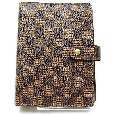 Authentic Louis Vuitton Diary Cover Agenda MM Browns Damier 801608