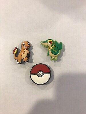3 Pokemon Game Shoe Charms Lot Set For Croc Shoes Jibbitz Bracelets