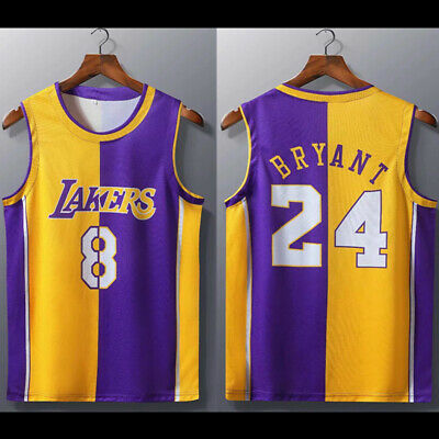 #24 & #8 Kobe Bryant Los Angeles Lakers Men Youth Child Adult Man Jersey Vest