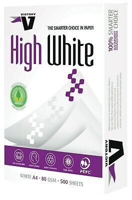 1 Ream (500 Sheets ) Copy Paper Victory A4 80Gsm High White Pk500