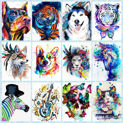 DIY Paint By Number Kits Digital Oil Painting Modern Home Decor Colorful Animal