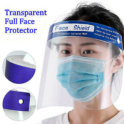 1-10pcs Clear Safety Face Shield Eyes Full Face Covering Protector Guard Tool US