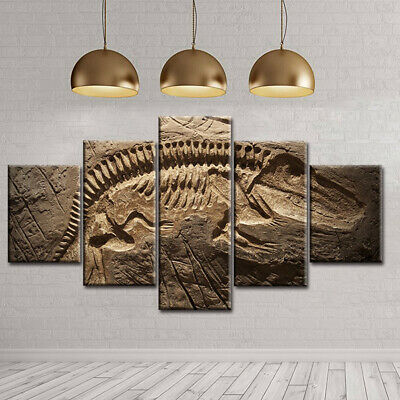 F Small Ichthyosaur Fossil Preserved In Art Print Home Decor Wall Art Poster