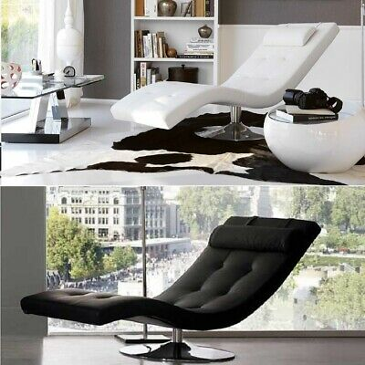 Chaise Longue Sleeper in similpelle trapuntata con cuscino