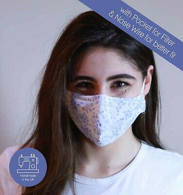 Organic Cotton Adult Kids Reusable Face Cover Anti-dust Mouth Nose Covering UK