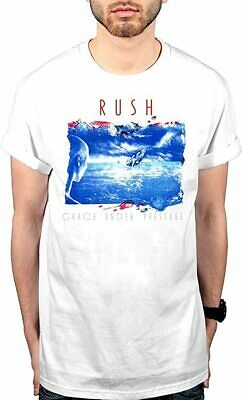 Rush Grace Under Pressure Logo Mens Short Sleeve TShirt Casual Tops Tees White