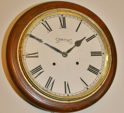 Vintage English Cased Striking Wall Clock with Anglo-Swiss Watch Co. Movement