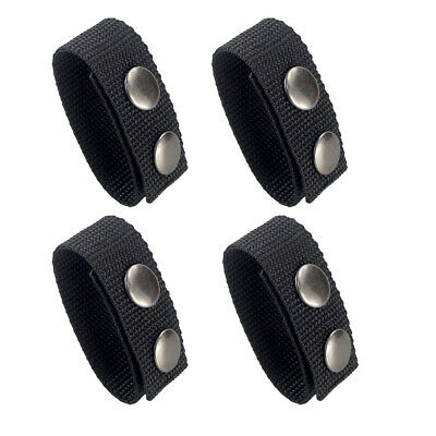 Tactical Belt Keeper for 2.25 inch Duty Belt 4-Pack Double Snaps Strap Holder