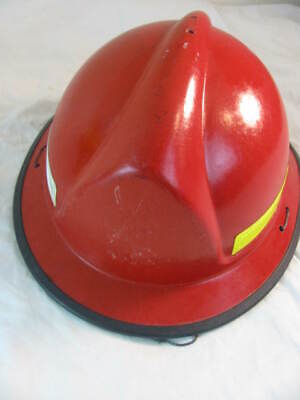 Morning Pride Plus Series Fire Helmet ~ Made in USA ~ forest rescue RED