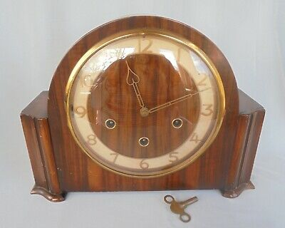 Vintage Smiths Westminster Chime Mantel Clock ~