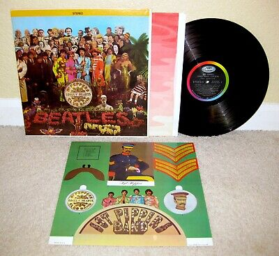 BEATLES Sgt Peppers Lonely Hearts Club Band LP OG Capitol STEREO Inner+Insert NM
