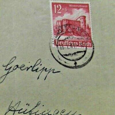 1939 WINTER RELIEF FUND CHARITY Franked / Advertising stamp brief cover