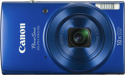 "Canon Powershot 190 Is 20 Megapixel Compact Camera - Blue - 2.7"" Lcd - 16:9 -"