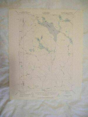 1954 Caucomgomoc Lake, ME Maine USGS Topographic Topo Map