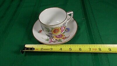 Rare tea cup and saucer Antique Vintage Dresden Germany Tea Cup and Saucer