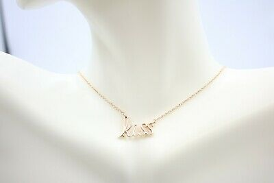 """Kiss"" Necklace on 18K Rose Gold"