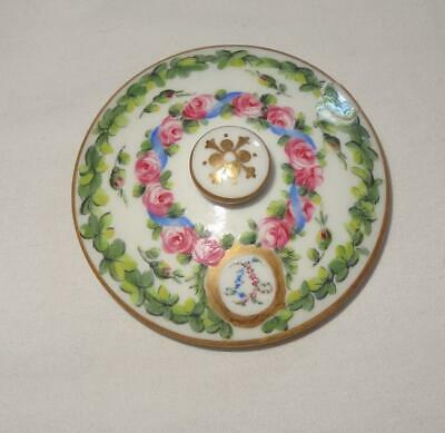Antique 19th Century French SEVRES Style Porcelain Lid