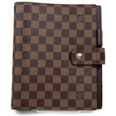 Authentic Louis Vuitton Diary Cover Agenda GM R20107 Browns Damier 810738