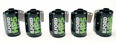 5 Rolls Ilford Hp5 Plus 400 35Mm - 36 Black & White Negative Film New , Expired