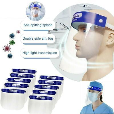 4 x Transparent Anti-Droplet Dust-Proof Protect Full Face Covering Visor Shield