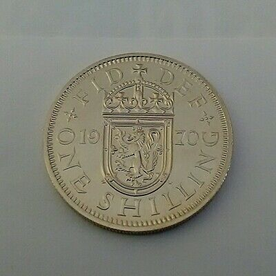 1970 Proof Scottish One Shilling Coin, The Last Minted, From A Royal Mint Set