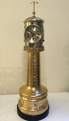 Rare Antique Lighthouse Automaton Clock, Guilmet , Mantle Clock, Automates