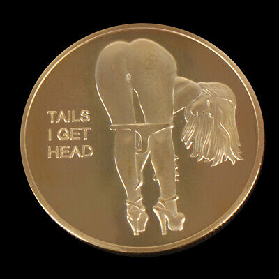 Double Side Sexy Woman Coin Adult Challenge Lucky Girl Commemorative Coins OE