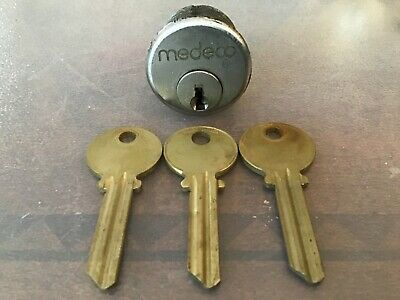 Medeco Biaxial Mortise Lock With 3 Blank Keys High Security Locksport Locksmith
