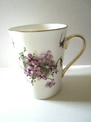 "Hammersley VICTORIAN  VIOLETS Bone China  Mug - 4"" high."