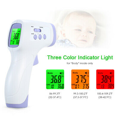 Baby Thermometer Infrared Digital LCD Body Non-Contact Measurement Forehead Ear
