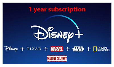 DisneyPlus 1 year subscription shared Account streaming platform 30 sec Delivery