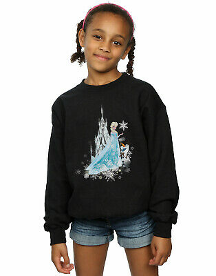 Disney Girls Frozen Elsa And Olaf Winter Magic Sweatshirt
