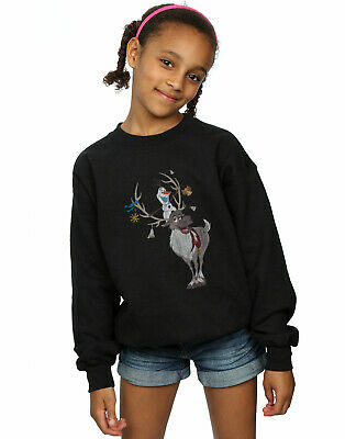 Disney Girls Frozen Sven And Olaf Christmas Ornaments Sweatshirt