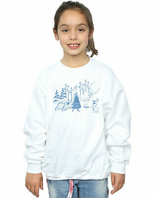 Disney Girls Frozen Anna Sven And Olaf Sweatshirt
