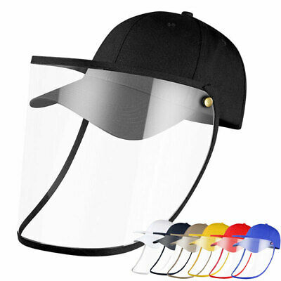 Safety Windproof Hat Full Face Shield Protective Baseball Cap For Adult