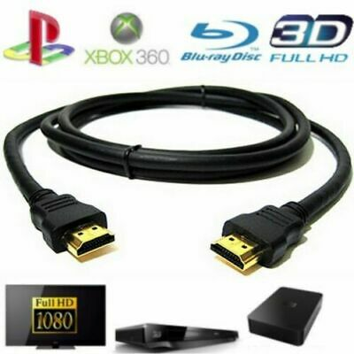 Cable HDMI 2M Full HD Tv 4K 3D Blu-Ray PS4 XBOX 1.4 LCD PC 1920x1080P Gold FR