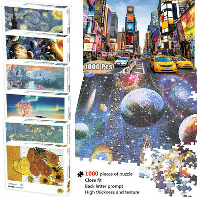 Cardboard Jigsaw Puzzle 1000 Mini Adults Kids Educational Game Stress Reliever