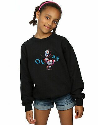 Disney Girls Frozen 2 Olaf Leaf Jump Sweatshirt
