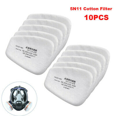 10X 5N11 Cotton Filter Safety Protect Replacement for 6200 6800 7502 Respirator