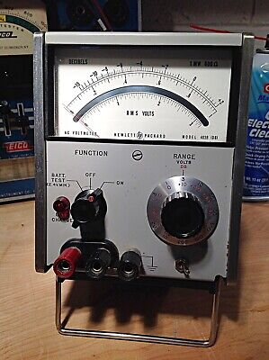 HP 400B AC Lab Grade  Mirrored Scale Voltmeter