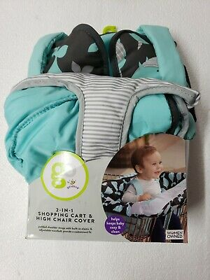 Goldbug Baby Toddler Shopping Cart Cover - Whales