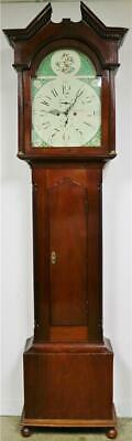 Stunning Antique 18thC English 8 Day Mahogany Grandfather Longcase Clock