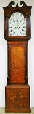 Stunning Antique C1830 English 8 Day Oak & Mahogany Grandfather Longcase Clock