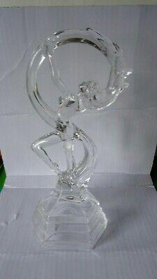 An Art deco style Ophelia in clear Italian RCR 24% Glass 30cm small chip on base