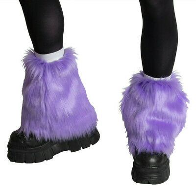 PAWSTAR Pony Puff Leg Warmer furry rave dance fluffies music lavender [LA]2590