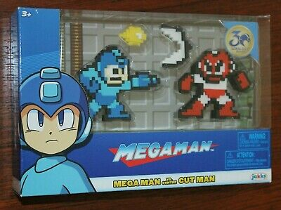 MEGA MAN VS ELEC FIRE MAN GUTS /& CUT MAN JAKKS PACIFIC SET OF 4 COMPLETE 8 BIT