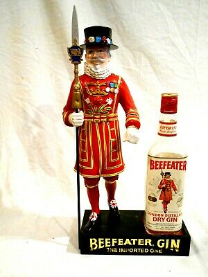 """1950's Beefeater Gin Counter Top Display 17"""""""