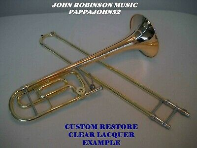 BENGE 165 Trombone (King) w or w/o F Red Brass Bell CUSTOM RESTORE Silver or lac