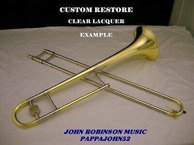 *HN White KING 2B Liberty trombone 1941 CUSTOM RESTORE Lacquer or Silver finish